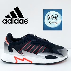 adidas Tresc Run Lace Up Sneakers Black/Solar Red